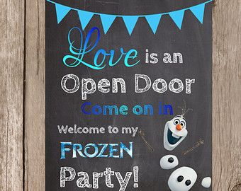 Popular Items For Love Is An Open Door On Etsy Frozen Themed Birthday Party Frozen Birthday Theme Elsa Birthday Party