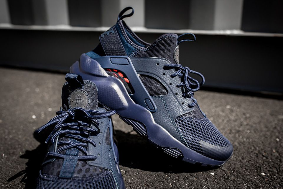 aa0639e91db Nike douses its famed Air Huarache Run Ultra BR in nothing but Midnight  Navy. Huarache