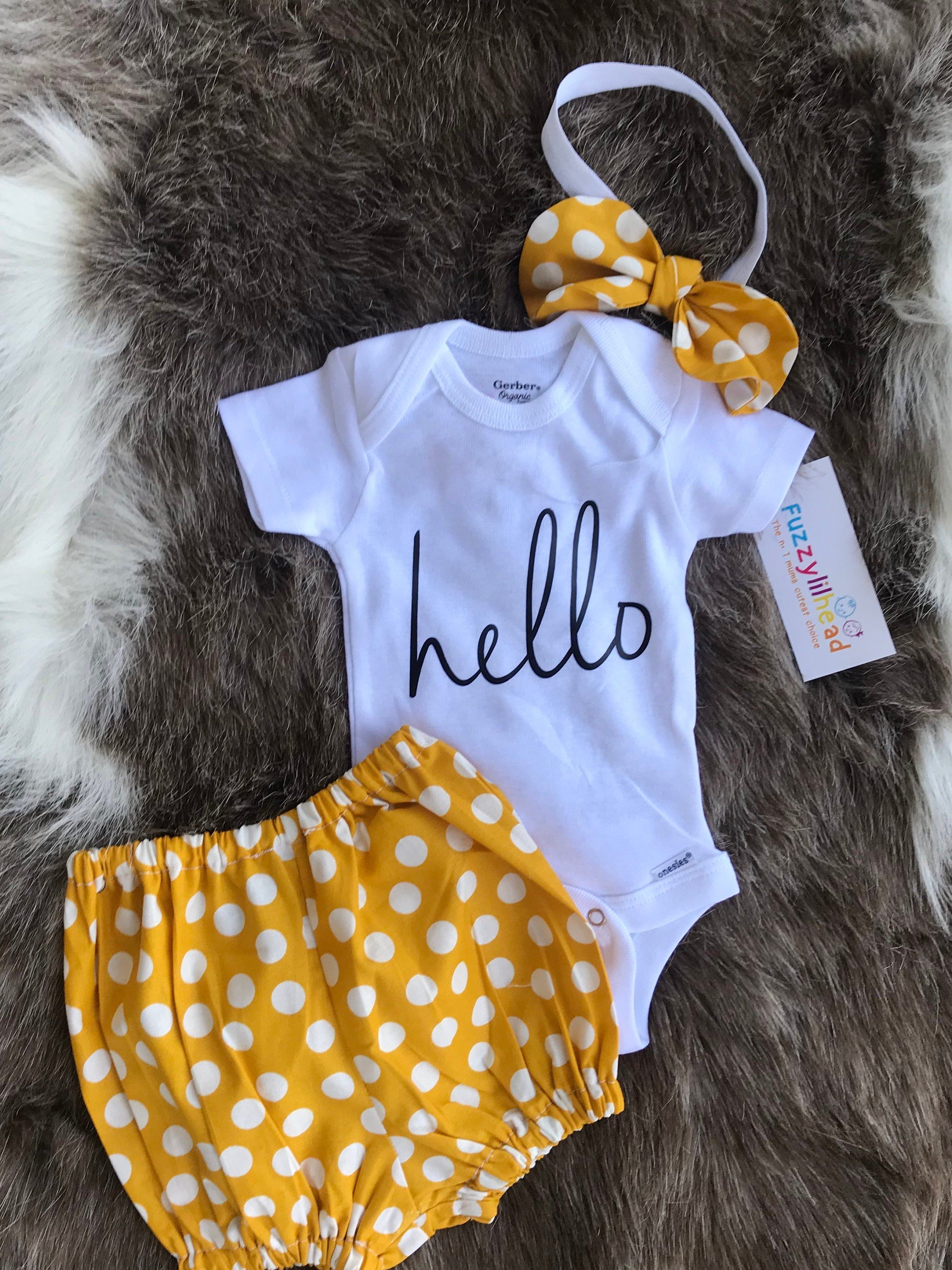 Photo of Mustard Podka Dots Coming Home Outfit/ hello/ take home girl/ baby shower girl/ gift/ Outfit Girl Going Home Outfit Summer Fall Baby Outfits