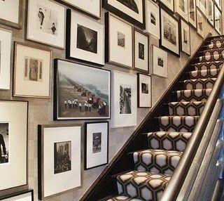 LUV DECOR: Detalhes: Gallery wall / Escadas