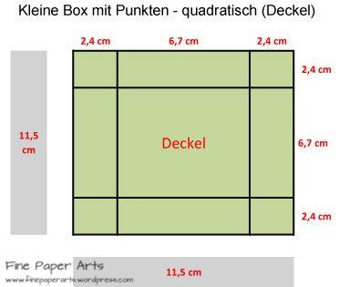 kleine box mit punkten quadratisch deckel muttertagskarten box paper und paper crafts. Black Bedroom Furniture Sets. Home Design Ideas