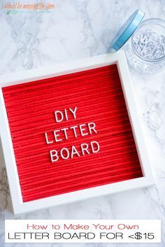 DIY Letter Board | Complete photo tutorial on how to create your own letter board for less than $15.  The colors and possibilities are endless!