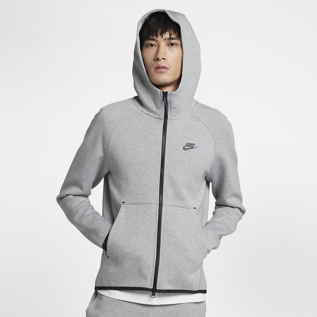 Sportswear Tech Fleece Men's FullZip Hoodie. Nike GB