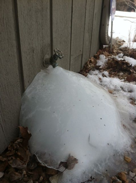 Leaking Faucet Creates Ice Dome. What happens when an exterior ...