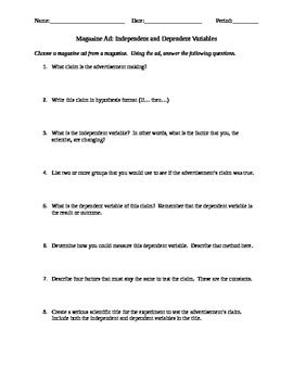 Worksheets Dependent And Independent Variables Worksheet independent dependent variable worksheet delibertad delibertad