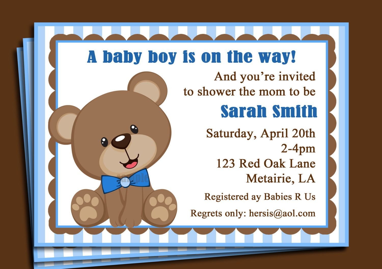 blue and brown with teddy bears baby shower cakes | teddy-bear-baby ...
