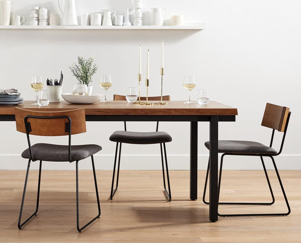 Karsten Dining Chair Rustic Industrial Dining Chair Minimalist