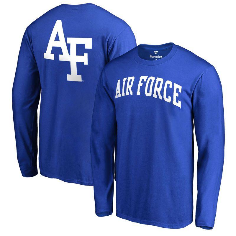 Air Force Falcons Primetime Long Sleeve TShirt Royal