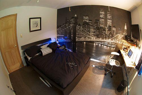 Boy Bedroom Ideas Tumblr city skyline   bedroom ideas   pinterest   city skylines, room