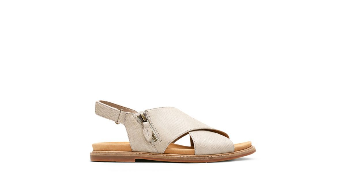 5d093ad0e1a5 Corsio Calm Sand Leather - Womens Flat Sandals - Clarks® Shoes Official  Site