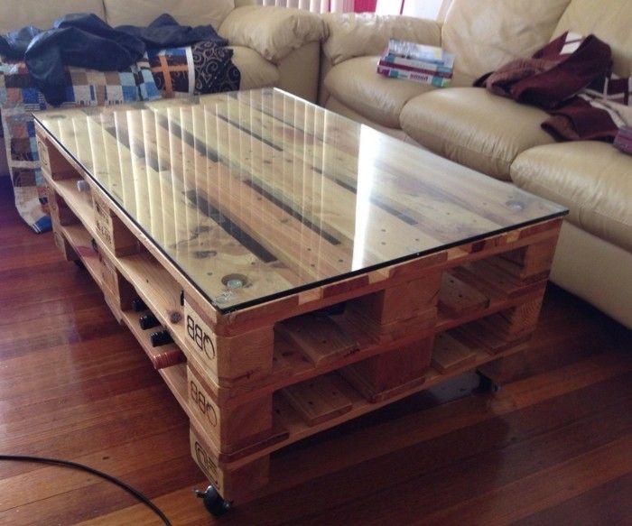 Couchtisch selber bauen palette  Tisch selber bauen - über 80 kreative Vorschläge! - Archzine.net ...