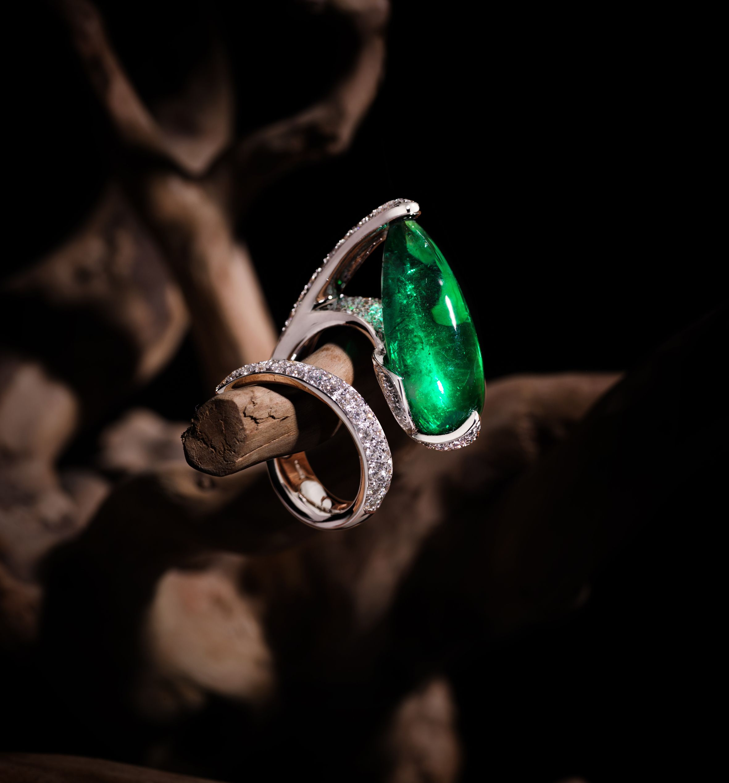 a ring shop sphene jewelry trillion journey dsc cut through art moldavite rings