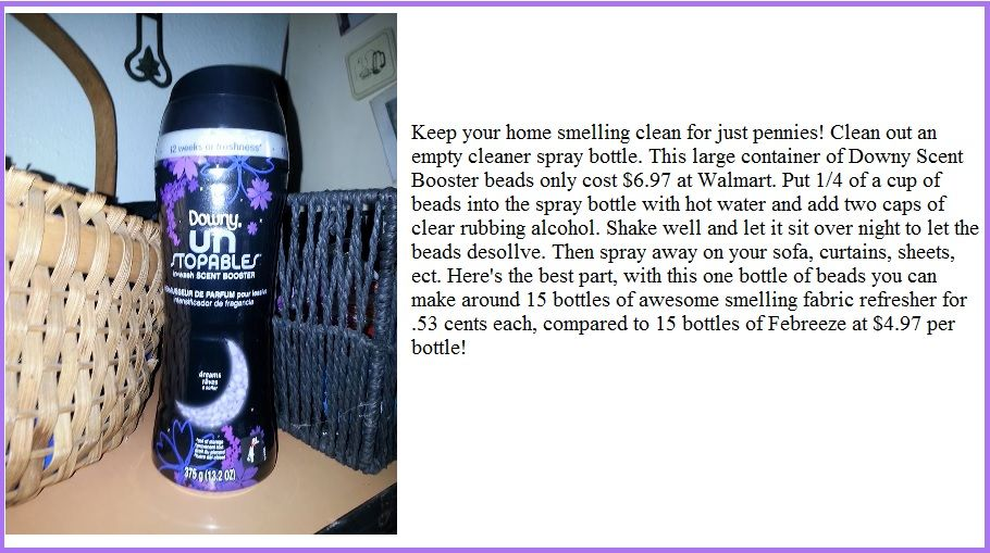 Keep your home smelling clean and fresh for just pennies!