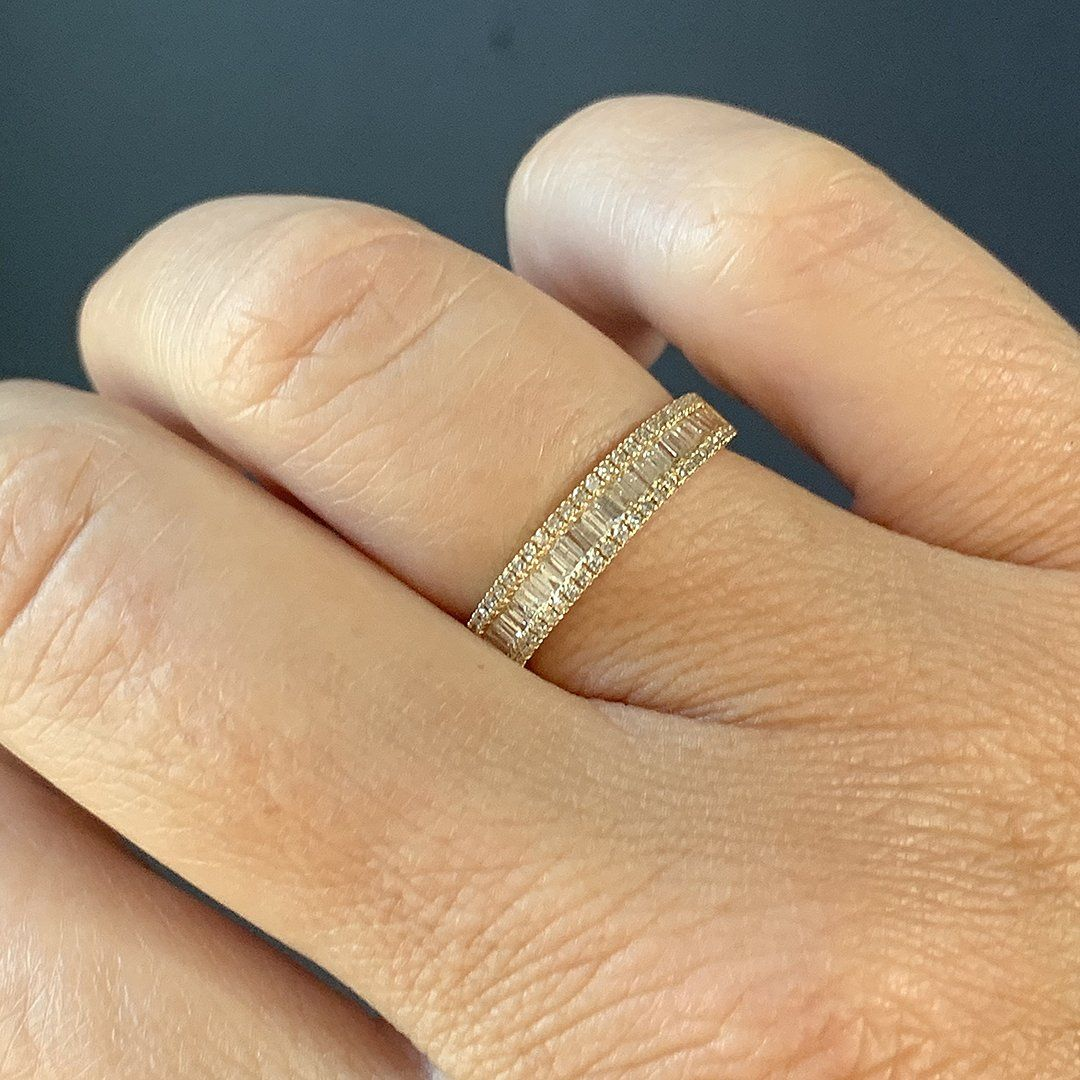 Details about  /Channel Set Diamond Wedding Band