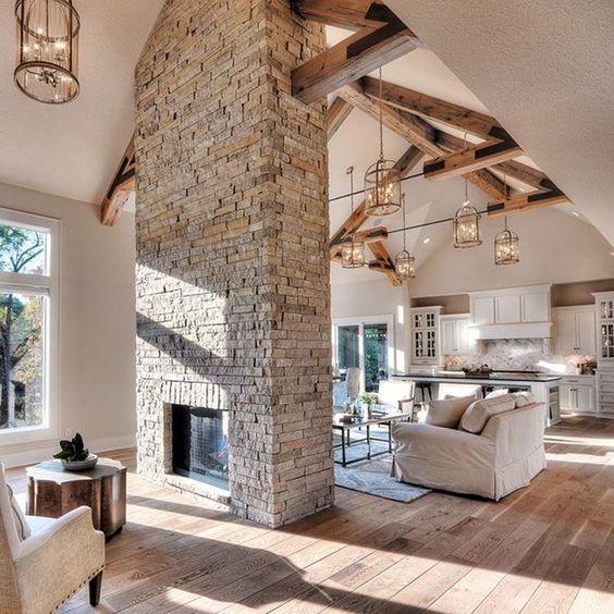 ♡ ᒪOᑌIᔕE ♡ Dream home ideas Pinterest Diseño para casas - diseo de chimeneas para casas