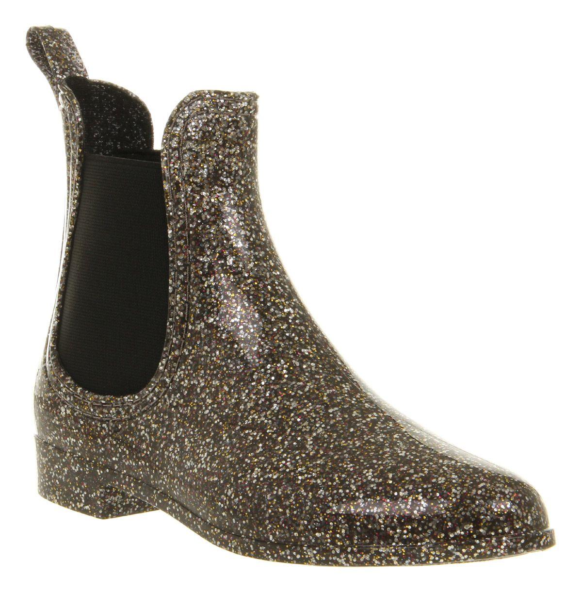 Juju S Chelsea Welly Boot Glitter Rubber