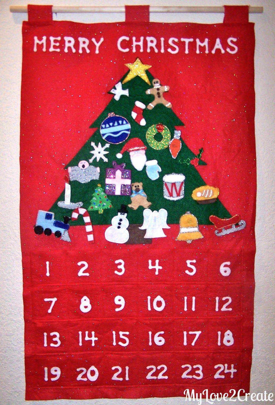 Christmas Tree Advent Calendar Christmas Tree Advent Calendar Advent Crafts Diy Advent Calendar