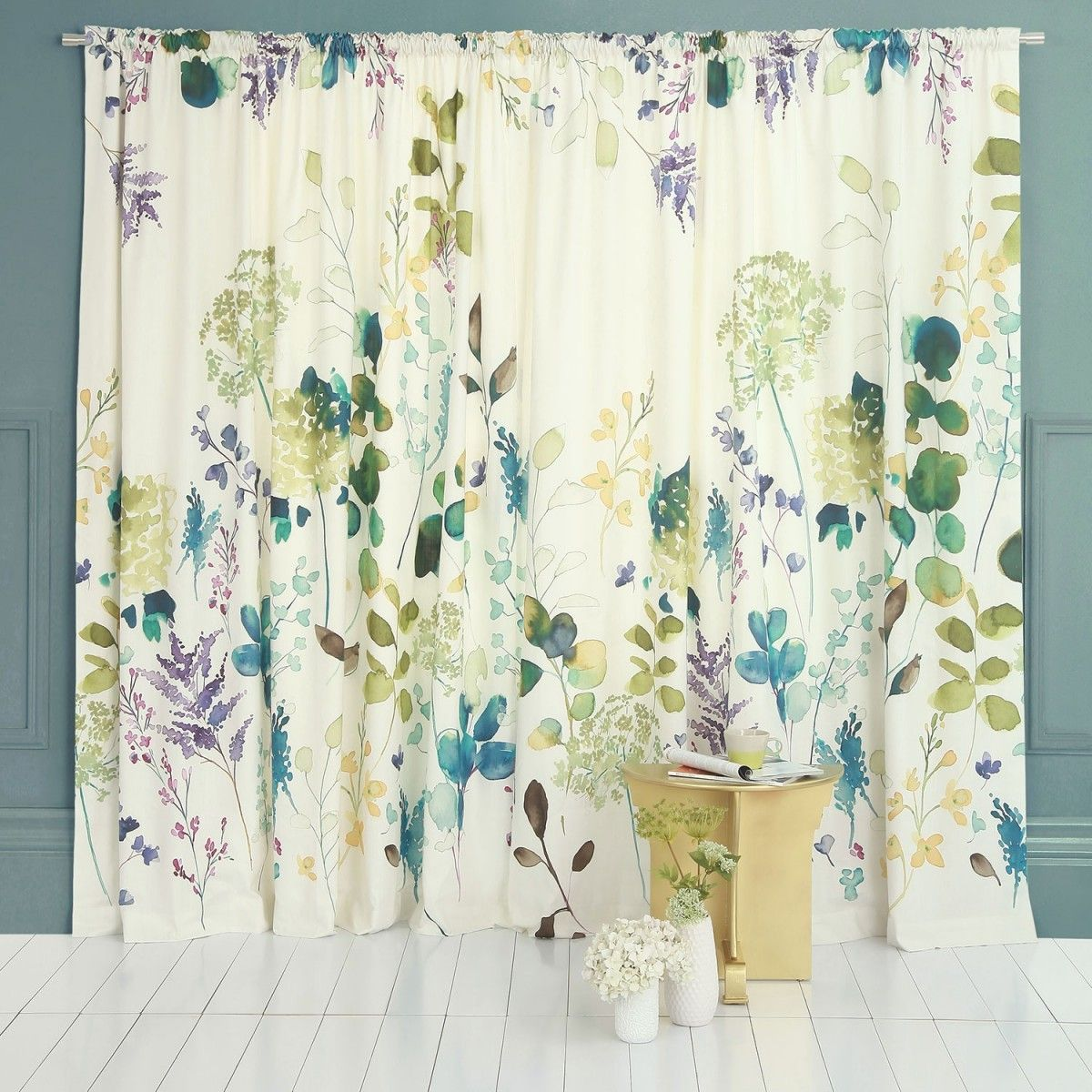 Botanical Curtain Lounge Curtains Family Room Design Pottery