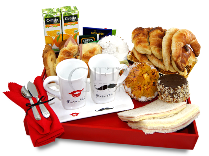 Desayuno para vos para mi desayunos a domicilio pinterest breakfast breakfast in bed y gifts - Regalar desayuno a domicilio madrid ...