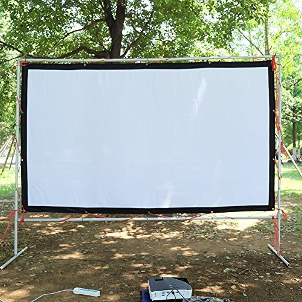 Portable Projector Screen 120 Inch Theater Movies Hd Projection Indoor Outdoor Nierbo Outdoor Movie Screen Outdoor Movie Nights Outdoor Movie