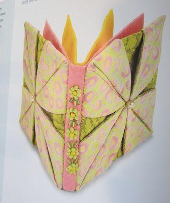 Tutorial for origami fabric flower smocking pinterest fabric tutorial for origami fabric flower mightylinksfo