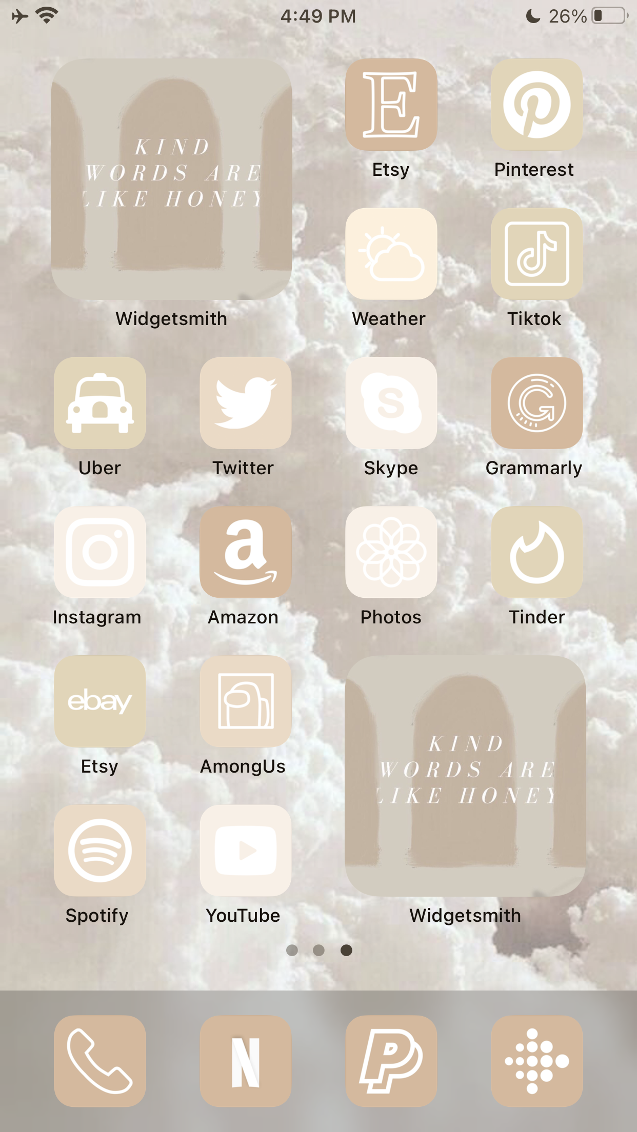 Ios 14 Aesthetic Home Screen App Icons Pack Iphone Aesthetic Homescreen App Icon Homescreen Pink Iphone