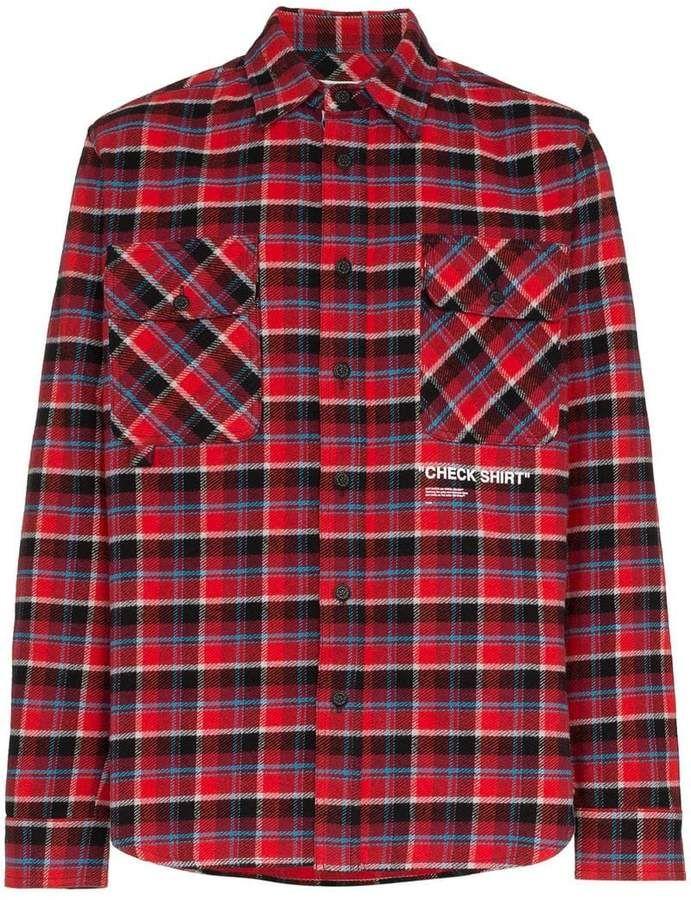 fb0faa3790d2 Off-White Check Shirt printed check cotton flannel shirt