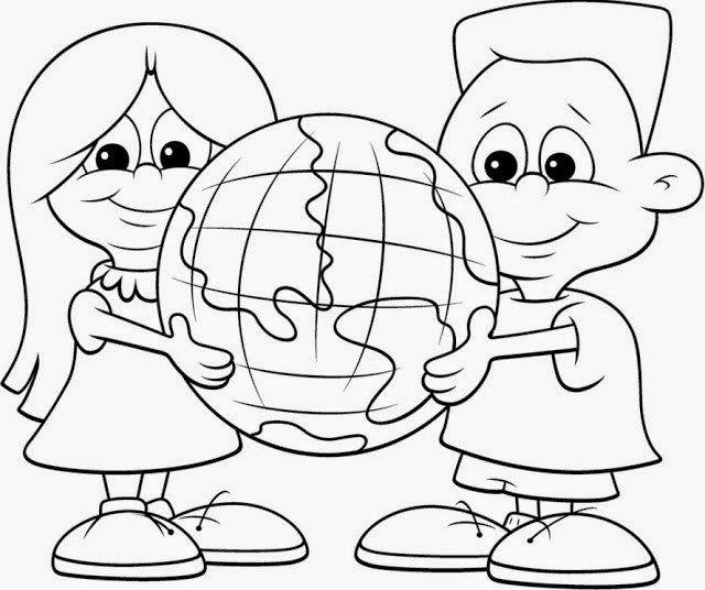 Dibujos Del Dia Intercional De La Tierra Para Colorear Pintar E