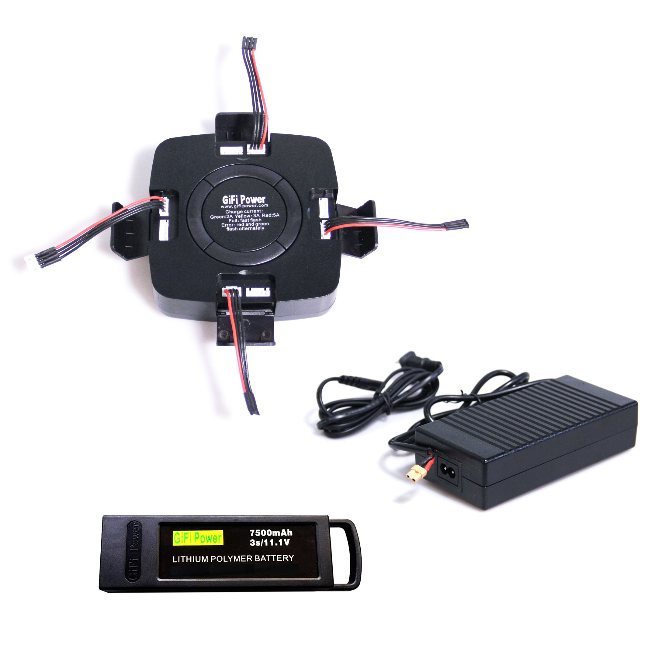 4in1 MultiPort Battery Charger for Yuneec Typhoon Q500