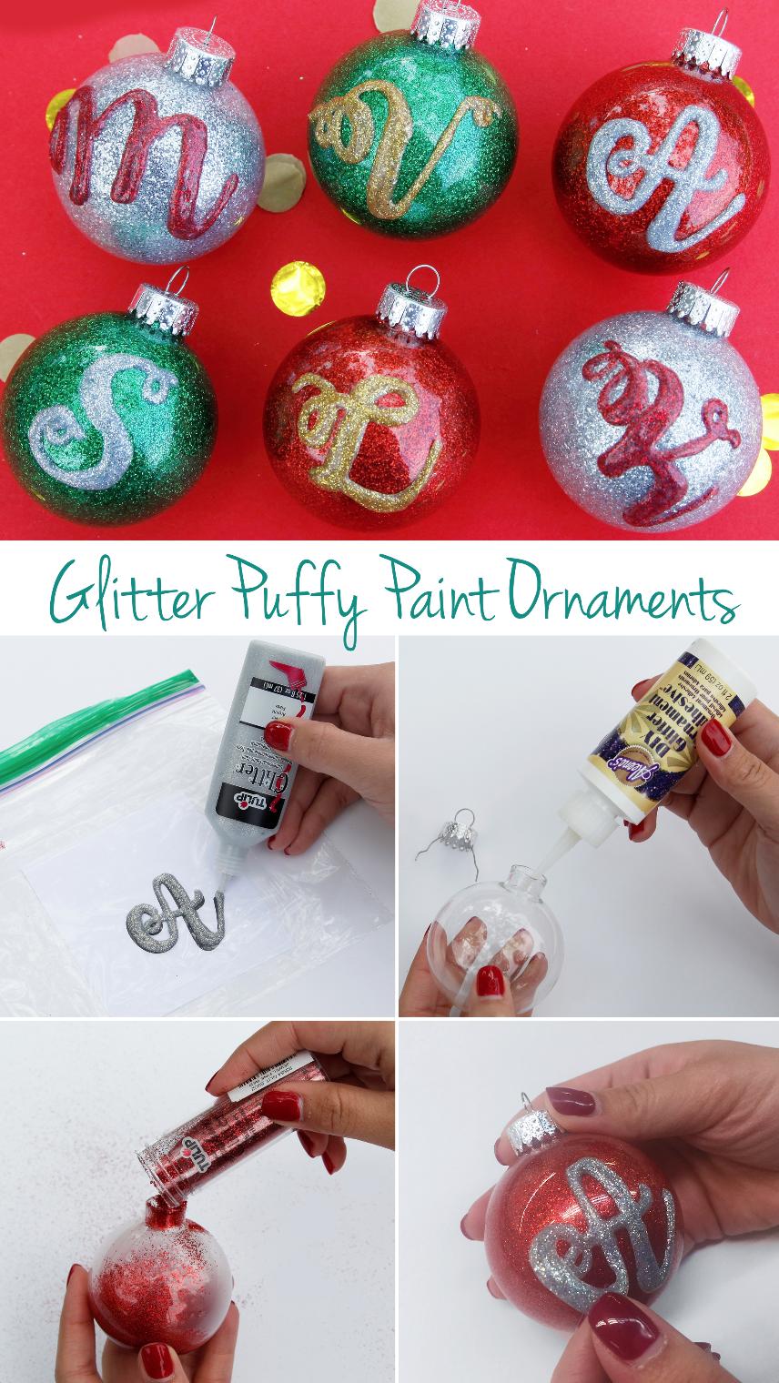 Glitter Monogram Ornaments Glass Ornaments Diy Monogrammed Christmas Ornaments Christmas Ornaments Homemade