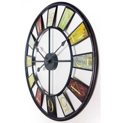 Infinity Instruments The Kaleidoscope Round Wall Clock