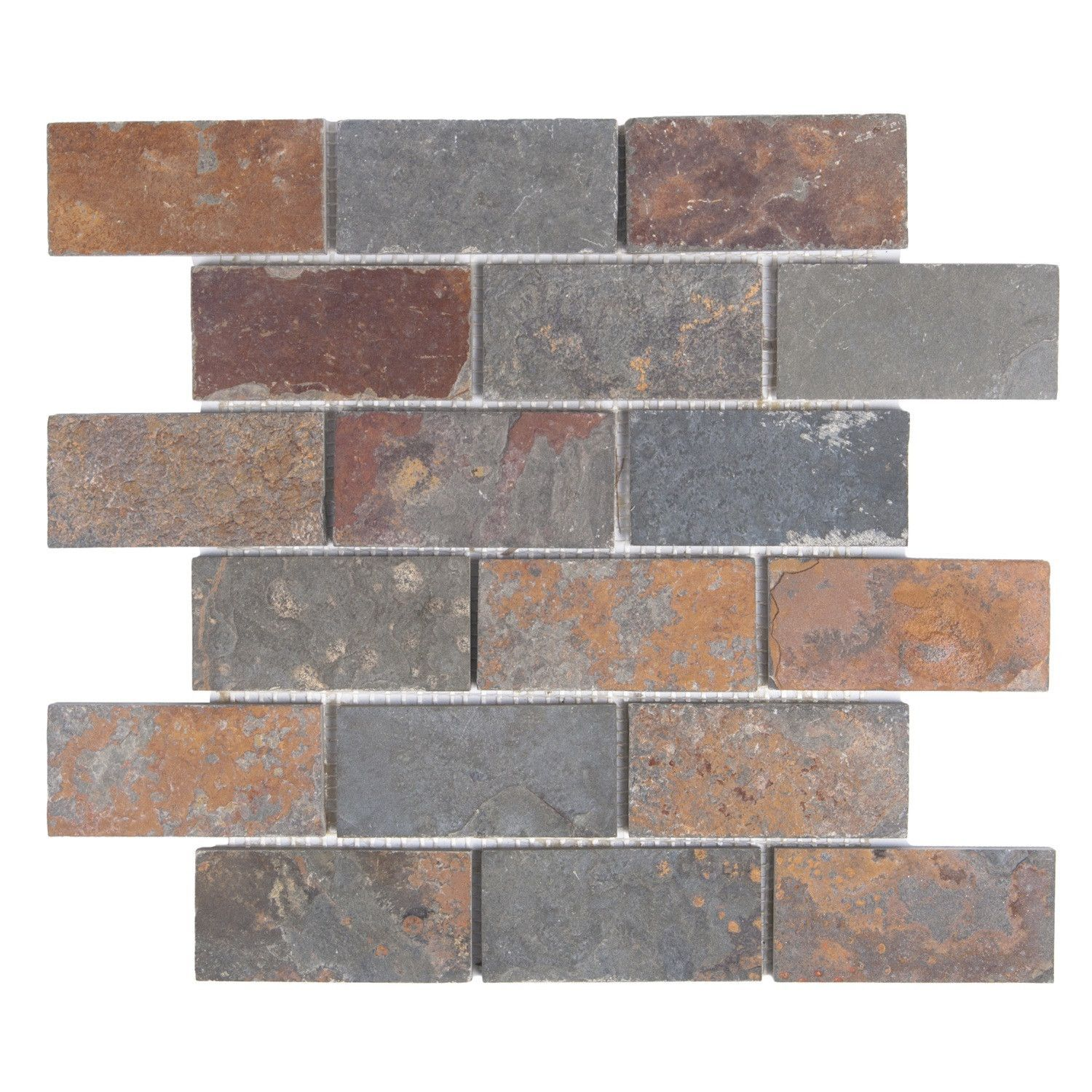 Multicolor slate mosaic subway tile 2x4 products pinterest multicolor slate mosaic subway tile 2x4 dailygadgetfo Gallery