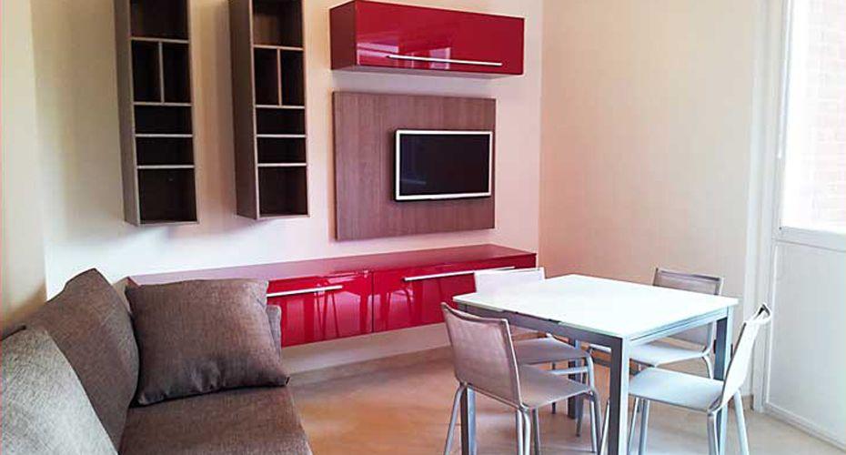 Piccoli spazi: un living con cucina | Pareti | Pinterest