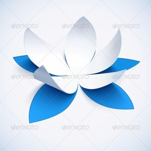 Blue Cutout Paper Flower Flores De Papel Arte Flores