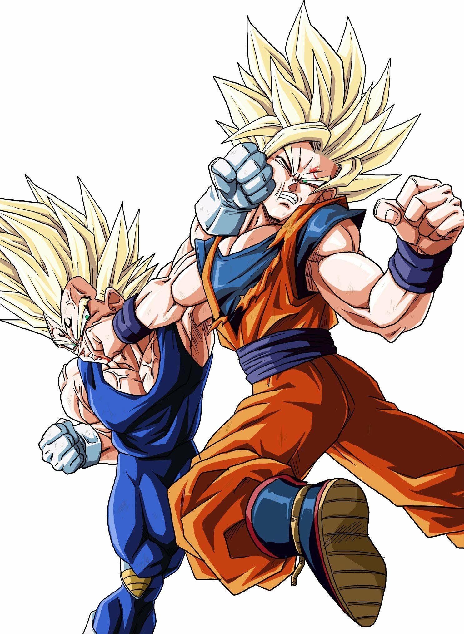 Pin De Goku Kamit En Dragonball Z Gt Kai Heroes Super Goku Y Vegeta Peleando Goku Y Vegeta Personajes De Goku