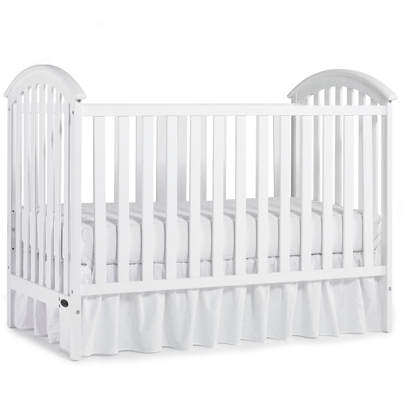 Graco Cribs Freeport Classic 3 In 1 Convertible Crib With Mattress In White Cribs Convertible Crib White Baby Cribs