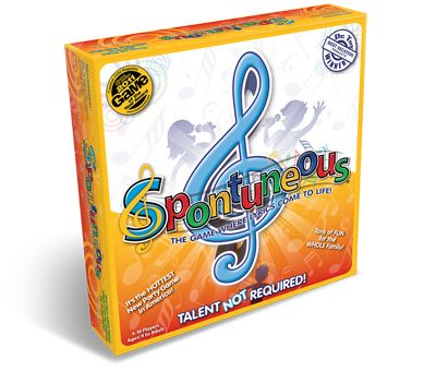 Spontuneous® Family Party Board Game - This game sounds fun. If I don't buy it, I might make a homemade version.