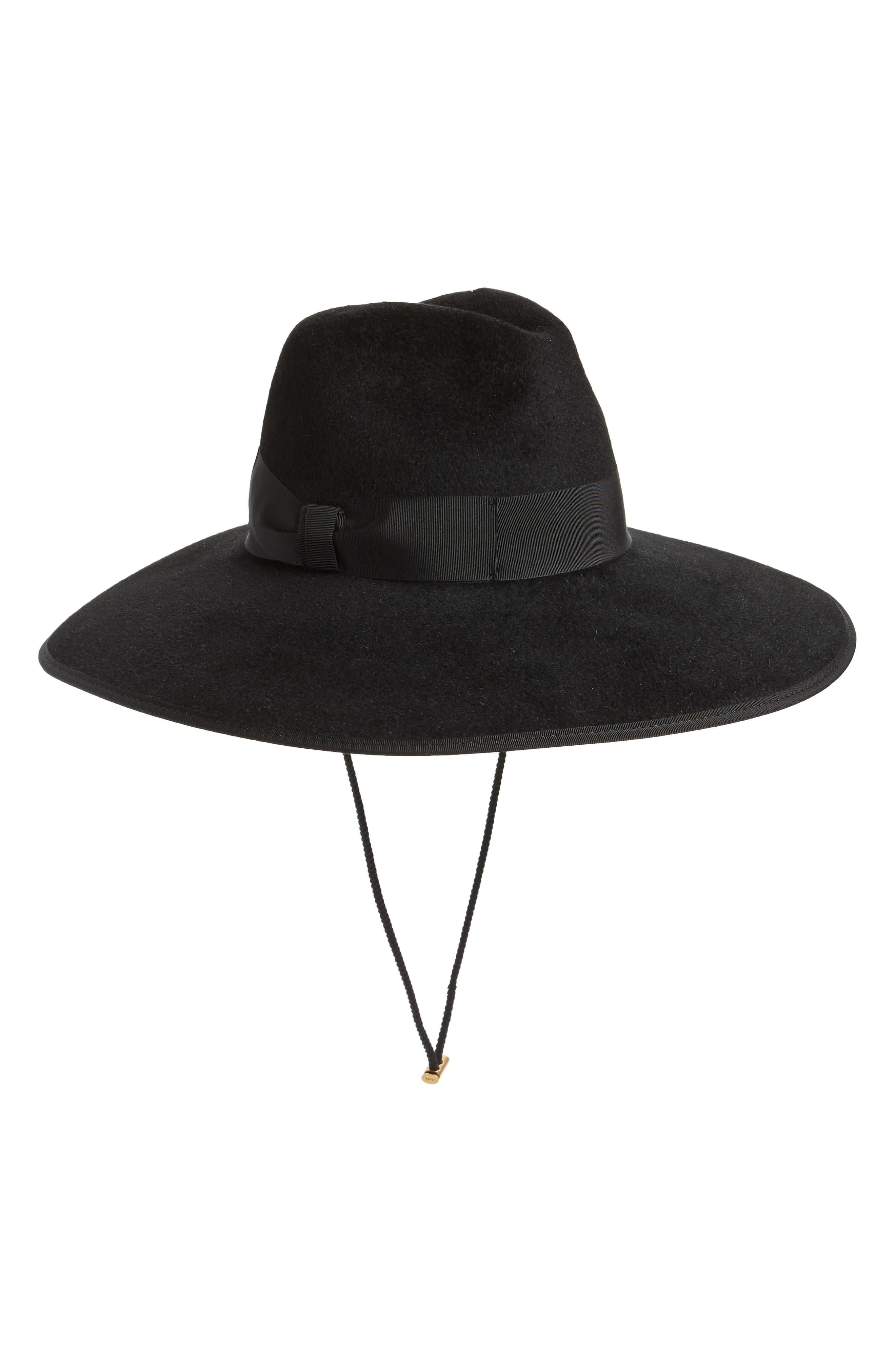 4b26f5f7644 Women's Gucci Sereno Fur Felt Hat - Black Italian Hat, Gucci Designer, Buy  Gucci