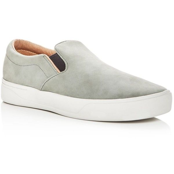 5e0aff32415 Saturdays Nyc Men s Vass Nubuck Leather Slip-On Sneakers - 100%... (570.375  COP) ❤ liked on Polyvore featuring men s fashion