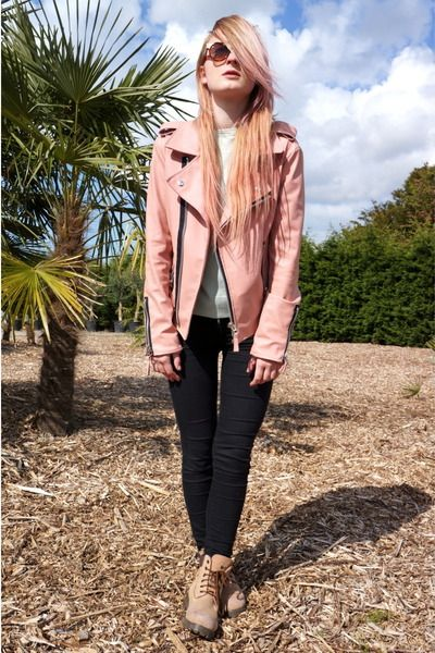 Pastel Pink Leather Jacket | Clothing | Pinterest | Leather ...