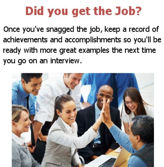 Did you get the Job? Once youu0027ve snagged the job, keep a record of - examples of achievements