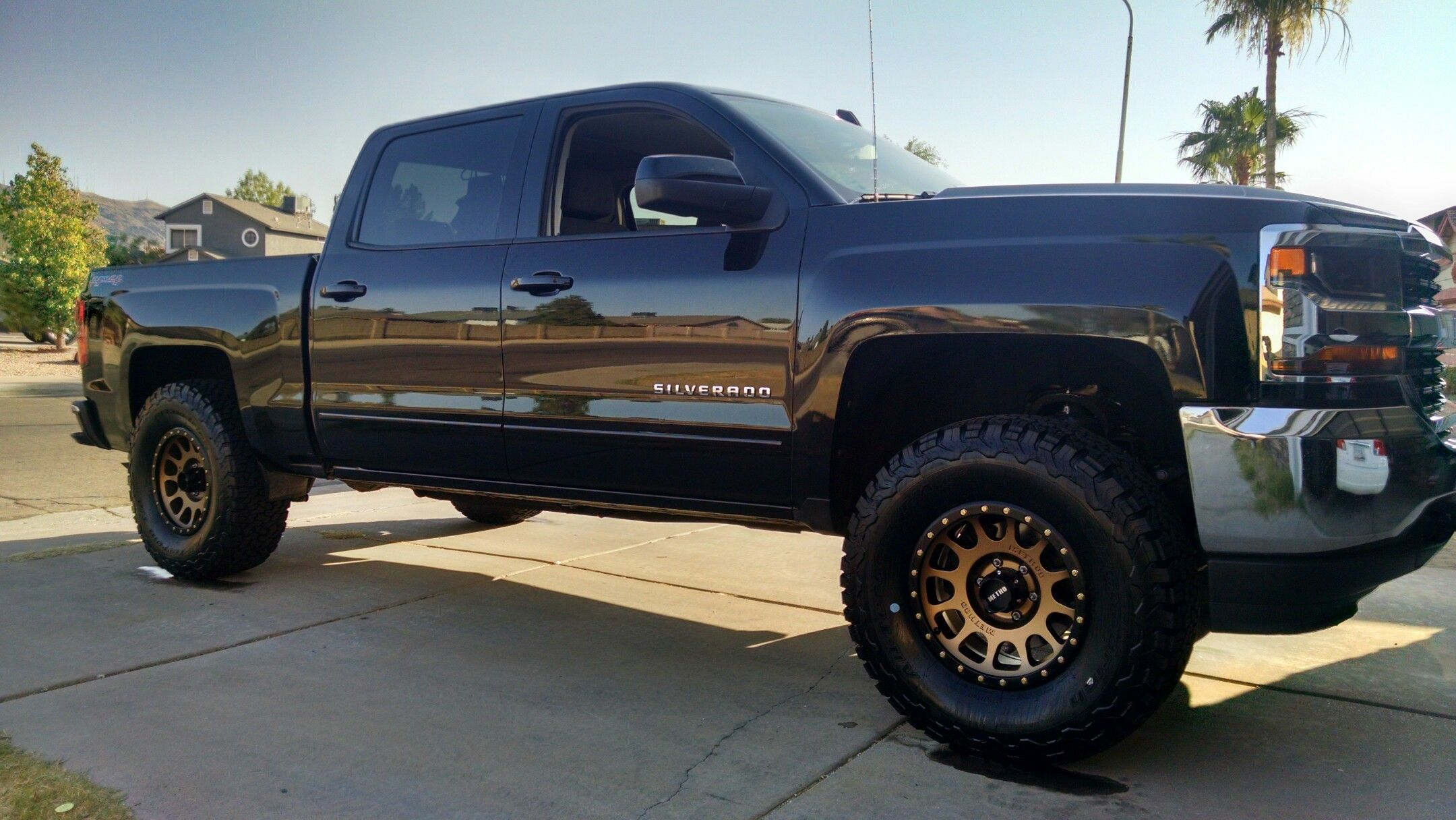 """Lifted Ford F150 For Sale >> Method Racing Wheels 17"""" Bronze NVs wrapped in 35"""" KO2 BFGoodrich Tires 