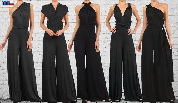 849e72473b67 Womens CONVERTIBLE JUMPSUIT BLACK palazzo by PassionFruitApparel ...