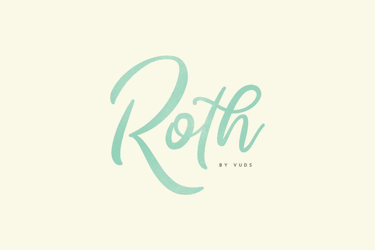 Roth wedding branding fonts and logos