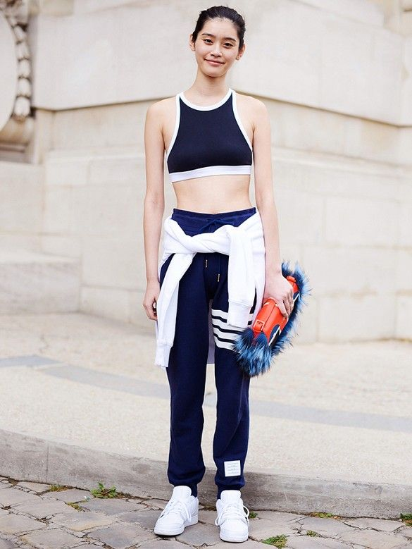 199b54994982 The Sports Bra Is Having A Major Street Style Moment
