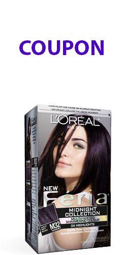 Coupon pour produits L\'Oréal Féria. http://rienquedugratuit.ca ...