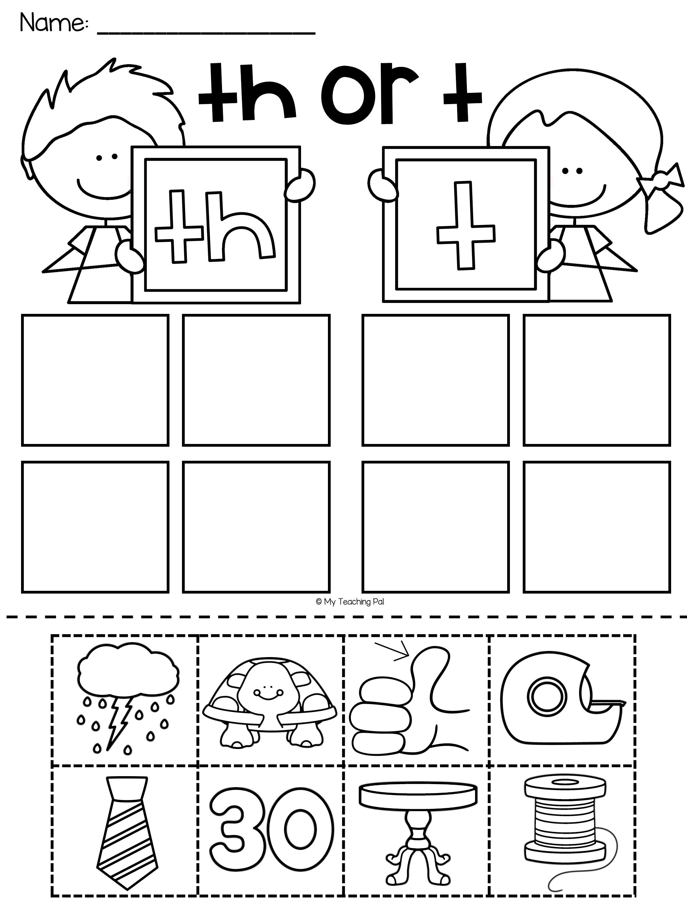 Th Worksheet Your Students Will Have So Much Fun Completing These Th Digraph Works Digraphs Worksheets Kindergarten Phonics Worksheets Kindergarten Worksheets