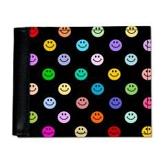 cute rainbow smiley wallet~