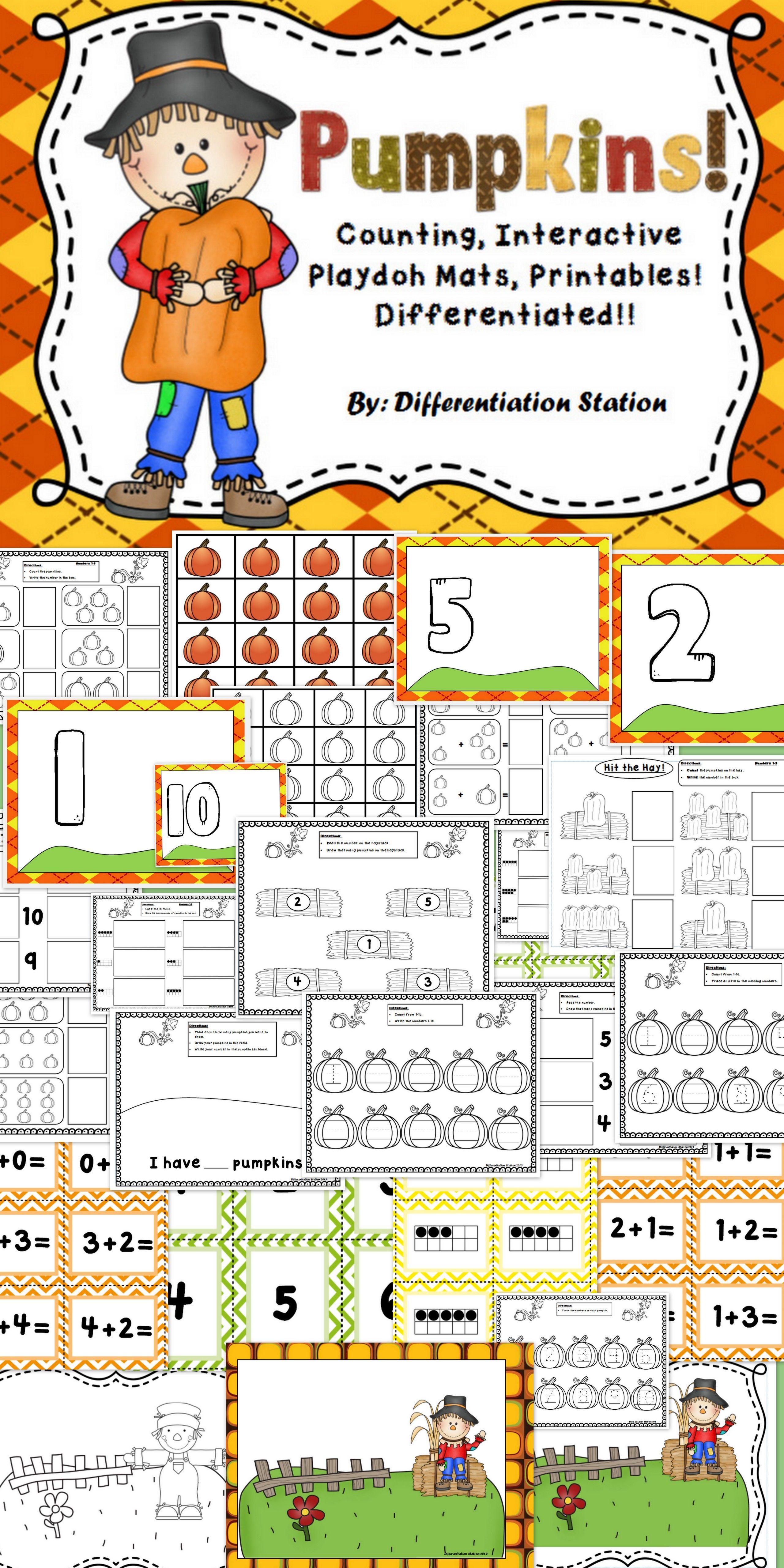 Play Dough Mats Amp Printables Pumpkins