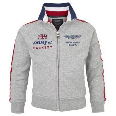 Hackett Mens Sweatshirt Aston Martin Racing Raglan Zip Through Gray Mens Jackets Casual Mens Outdoor Jackets Mens Casual Outfits